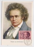 CARTE MAXIMUM CM Card USSR RUSSIA Music Composer Beethoven Germany - Tarjetas Máxima
