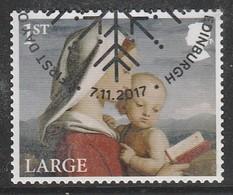 GB 2017 Christmas - Madonna And Child 1st Large SG 4022 Multicoloured O Used - 1952-.... (Elisabeth II.)
