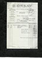 D'ORSAY . PARFUMEUR . PUTEAUX-SUR-SEINE LE : 03 AVRIL 1944 . - Drogerie & Parfümerie