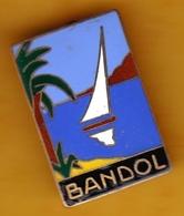 Broche En Laiton émaillé - Bandol (83) - Pas Un Pin's - Insigne - Ecusson - Armoiries - Blasons - Héraldique - Obj. 'Souvenir De'