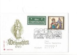 21611 - Christkindl 1983 Lettre Pour Baden 24.12.1983 + Vignette über Christkindl - Noël