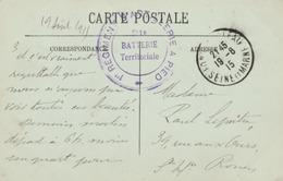 CPA De Fontainebleau En FM - Cachet Du * 1er Régiment D'Artillerie à Pied* - Postmark Collection (Covers)