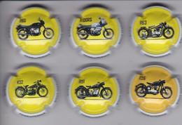SERIE COMPLETA DE 6 PLACAS DE CAVA TERRAFERMA DE MOTOS (CAPSULE) MOTO-MOTORBIKE - Placas De Cava