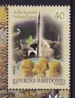 MACEDONIA, 2015, MNH, BAYRAM FESTIVAL, MOSQUES, SWEETS, 1v - Celebrations