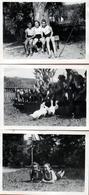 3 Photos Originales Guerre 1939-45 Jeunes Filles Du III Reich & Bund Deutscher Mädel (BDM) Nazisme & Endoctrinement - Guerre, Militaire