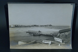 Véritable Photographie Photo Ancienne 23X16cm Vers 1900 Antibes Port De La Salis Aubernon - Plaatsen
