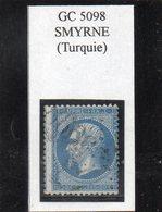BFE - N° 22 Obl GC 5098 Smyrne (Turquie) - 1862 Napoléon III.