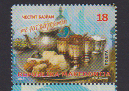 MACEDONIA, 2018, MNH, BAJRAM, CELEBRATIONS, SWEETS, DRINKS, 1v - Celebrations