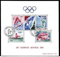 Monaco - VF Yvert 11 - Oblitéré PJ - JO Montréal 1976  - Lot 140 - Blocs