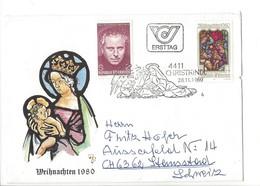 21615 - Christkindl 1980 Lettre Ersttag Pour Stansstad 28.11.1980 - Noël