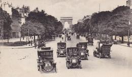 75. PARIS. CHAMPS ÉLYSÉES . CPA.   ANIMATION VOITURES EN GROS PLAN. ANNEE 1921 - Voitures De Tourisme