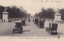 75. PARIS. CHAMPS ÉLYSÉES . CPA.   ANIMATION VOITURES EN GROS PLAN. ANNEE 1920 - Voitures De Tourisme