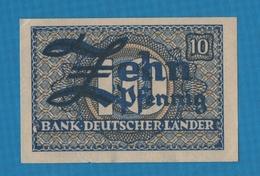 BANK DEUTSCHER LÄNDER 10 PFENNIG  Banknote ND (1948) P# 12 - [ 7] 1949-… : RFA - Rep. Fed. Tedesca