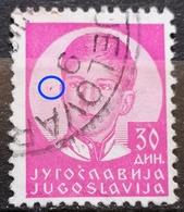KING PETER II-30 D-ERROR-RARE-YUGOSLAVIA - 1935 - 1931-1941 Royaume De Yougoslavie