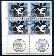 France - 1ère Série Tableaux - Yvert 1319 - Bloc De 4 Avec Cachet PJ - Lot 141 - Used Stamps