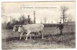 En Auvergne - Les Travaux Des Champs - Le Laboureur - BOEUFS - Ed. A. Michel, St. Gervais D'Auvergne - Cultures