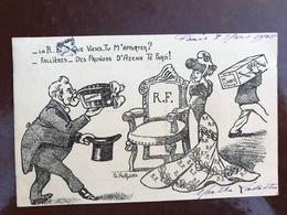 1 Carte P Illustrateur - Orwins - La R F Que Viens Tu M'apporter - Satiriques
