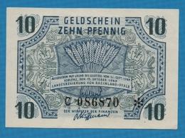 DEUTSCHLAND RHEINLAND-PFALZ    10 Pfennig15.10.1947Serie C 086870 P# S1005 - [ 5] 1945-1949 : Occupazione Degli Alleati