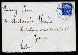 A5956) Sudetenland Brief Trautenau 1938 N. Jicin Mit PA-Siegelentwertung - Allemagne