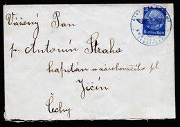 A5956) Sudetenland Brief Trautenau 1938 N. Jicin Mit PA-Siegelentwertung - Briefe U. Dokumente