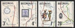 Botswana, Scott # 88-91 MNH Mafeking Trail Maps, 1972 - Botswana (1966-...)