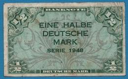 DEUTSCHLAND U.S. ARMY COMMAND 1/2 Deutsche Mark1948 P# 1a - [ 5] Ocupación De Los Aliados