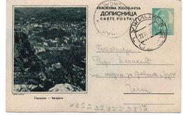 1938 Sarajevo Panorama Bosna I Hercegovina Bosnia Yugoslavia Dopisnica Koriscena Used Postcard - Bosnia And Herzegovina