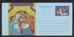 UK: Stationery Aerogramme, Unused, Christmas, Christ, Three Kings, Angel, Music, Air Letter (traces Of Use) - 1952-.... (Elizabeth II)
