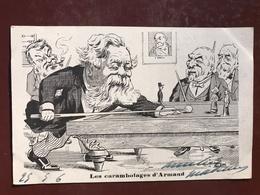1 Carte P Illustrateur - Lion - Les Carambolages D'Armand - Politique Satirique - Satiriques