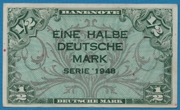 DEUTSCHLAND U.S. ARMY COMMAND 1/2 Deutsche Mark1948 P# 1a - 1945-1949: Alliierte Besatzung