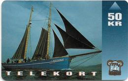 Faroe - Faroese Telecom (Magnetic) - Shiptype 'Nordlyset' - 50Kr. - 20.000ex, Used - Faroe Islands