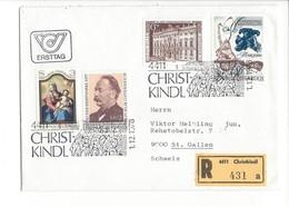 21620 - Christkindl 1978 Lettre Recommandé Ersttag  Pour St.Gallen 01.12.1978 - Noël