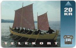 Faroe - Faroese Telecom (Magnetic) - Shiptype 'Seksæringur' - 20Kr. - 80.000ex, Used - Faroe Islands