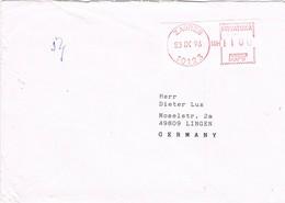 31543. Carta ZAGREB (Coatia) Hrvatska 1996. Franqueo Mecanico - Croacia