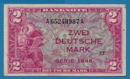 DEUTSCHLAND U.S. ARMY COMMAND 2 Deutsche Mark1948 Serie 37   A65248987A  P# 3a - [ 5] Ocupación De Los Aliados