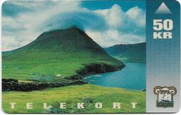 Faroe - Faroese Telecom (Magnetic) - Vidareidi - 50Kr. - 15.000ex, Used - Faroe Islands