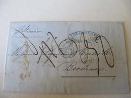 MARQUE POSTALE ,     LETTRE  ST  PIERRE  MARTINIQUE Vers  BORDEAUX     1855 - Marcophilie (Lettres)