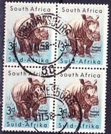 Süd-South-Suidafrika - Breitmaulnashorn (Diceros Simus) (MiNr: 243) 1954 - Gest Used Obl - Sud Africa (...-1961)