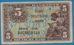 DEUTSCHLAND U.S. ARMY COMMAND 5 Deutsche Mark1948 Serie 3   B07861012A P# 4a - [ 5] 1945-1949 : Allies Occupation