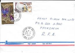 Niger Luftpost Beleg MiF 1985 -Pforzheim - Niger (1960-...)