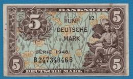 DEUTSCHLAND U.S. ARMY COMMAND 5 Deutsche Mark1948 Serie 12   B24734846B P# 4a - 5 Mark