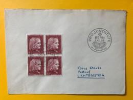 8086 - FDC No 148 Bloc De 4 1.12.1953 - Lettres & Documents
