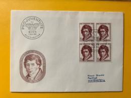 8090 - FDC No 158  Bloc De 4  1.12.1955 - Covers & Documents