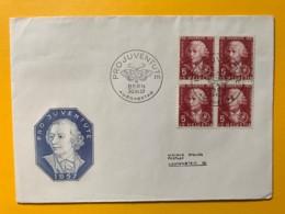 8095 - FDC No 168 Bloc De 4  1.12.1957 - Lettres & Documents