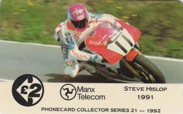 Isle Of Man, 13IOMA, TT Racers 1992,  Steve Hislop, Mint, 2 Scans. - Isla De Man