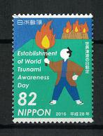 Japan Mi:08259 2016.11.04 Establishment Of World Tsunami Awareness Day(used) - 1989-... Empereur Akihito (Ere Heisei)