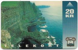 Faroe - Faroese Telecom (Magnetic) - Vágseiði - 20Kr. - 25.000ex, Used - Faroe Islands