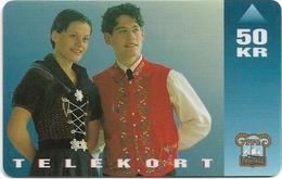 Faroe - Faroese Telecom (Magnetic) - National Costume (adults) - 50Kr. - 50.000ex, Used - Faroe Islands