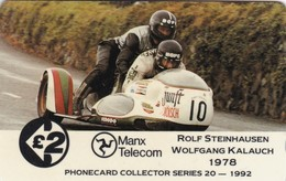 Isle Of Man, 13IOMB, TT Racers 1992,  Stenhausen/Kalauch, Mint, 2 Scans. - Isla De Man
