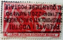 Italie Italy Italia 1932 Enfants Children Bambini Yvert 308 O Used Usato - 1900-44 Victor Emmanuel III.